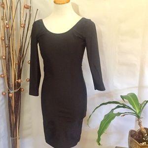 American Apparel Nylon Tricot Scoop Back Dress